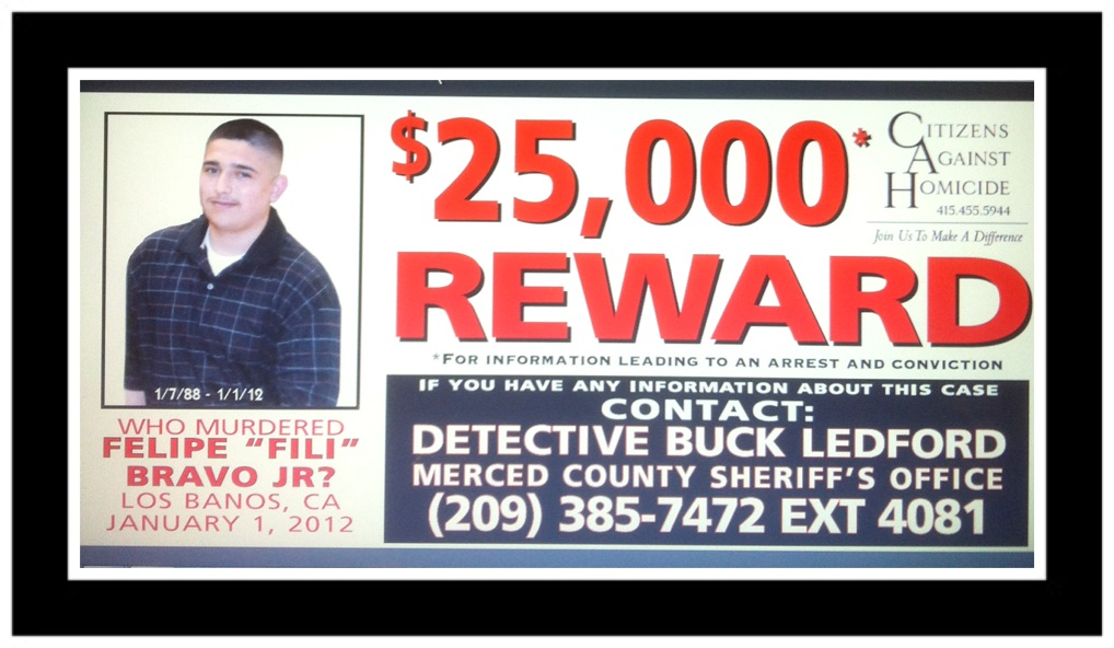 "$25,000 REWARD – Who Murdered Felipe ""Fili"" Bravo Jr?"